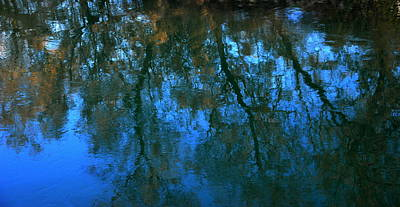 Photograph - Water Show Blue by Jacqueline M Lewis