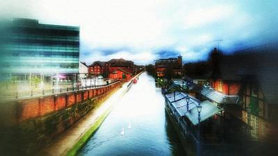 Mixed Media - View From The Bridge by Abbie Shores