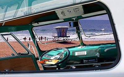 Huntington Beach California Photograph - View From The Bus by Ron Regalado
