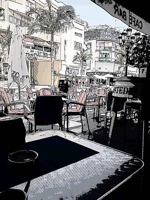 Digital Art - View From The Cafe by Arjun L Sen