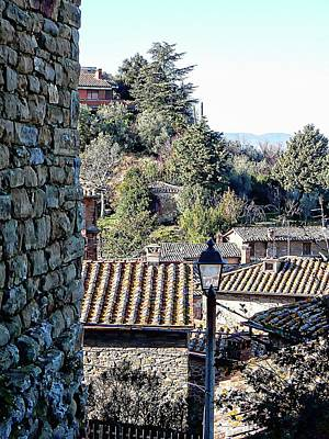 Photograph - View From The Church At The Top Of Panicale by Dorothy Berry-Lound