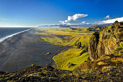 Photograph - View From The Cliffs - Iceland by Stuart Litoff