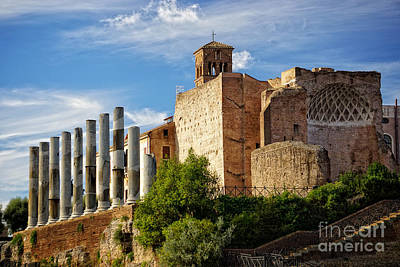 Ancient Rome Photograph - view from the Colosseum by HD Connelly