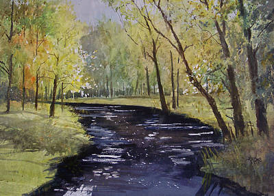 Painting - View From The Covered Bridge by Ryan Radke