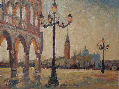 Painting - View From The Doge Palace by Nop Briex