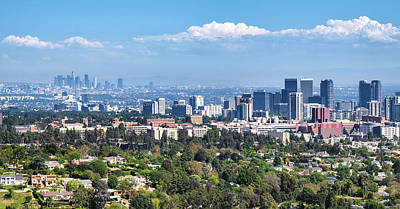 Downtown Photograph - View From The Getty Center In Los Angeles by Duane Miller