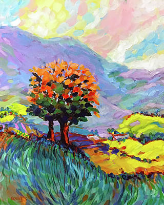 Wall Art - Painting - View From The Hill by Charles Wallis
