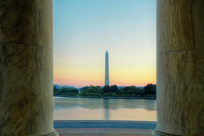 Jefferson Memorial Wall Art - Photograph - View From The Jefferson Memorial by Andrew Soundarajan