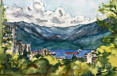 Wall Art - Painting - View From The Lett Room by Sonia Mocnik