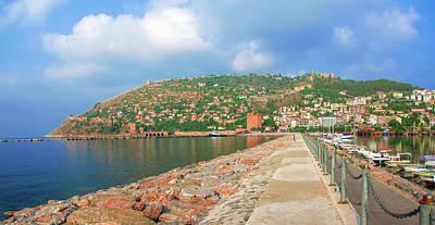 Photograph - View From The Lighthouse To The Harbor Of Alanya by Sun Travels