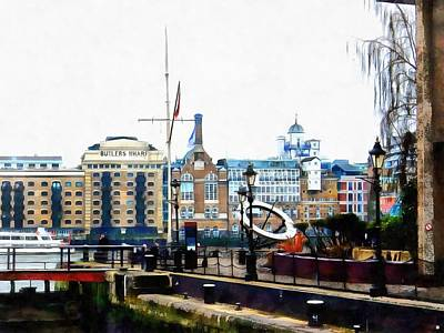Photograph - View From The Lock At St Katharine Docks by Dorothy Berry-Lound