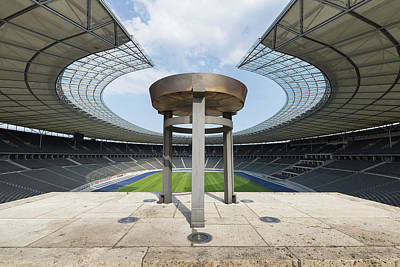 Photograph - View From The Marathon Gate Into The Olympiastadion In Berlin by Jan Kunzel