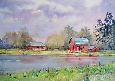 Painting - View From The Millpond by Ryan Radke