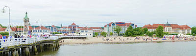 Photograph - View From The Pier At Sopot With Summer Clouds, Poland  by Marek Poplawski
