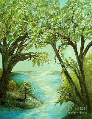 Painting - View From The River Bank by Eloise Schneider