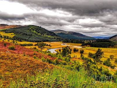 Photograph - View From The River Dee by Joan-Violet Stretch