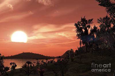 Gliese Digital Art - View From The Surface Of Earth-like by Adrian Mann