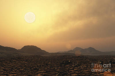 Gliese Digital Art - View From The Surface Of Rocky by Adrian Mann