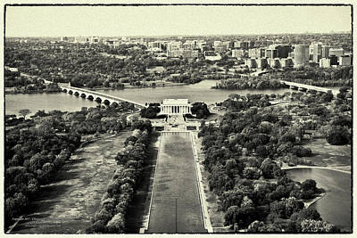 Lincoln Memorial Digital Art - View From The Top by Christopher Eng-Wong