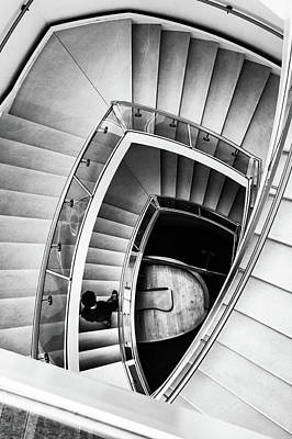 Photograph - View From The Top Of A Stairwell At The Overture Center by Jeanette Fellows