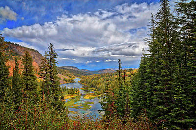 Photograph - View From The Top Of Mammoth's Twin Lakes by Lynn Bauer