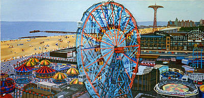 View From The Top Of The Cyclone Rollercoaster Art Print