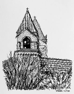 Deciduous Drawing - View From The Train Station by Robert Yaeger