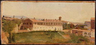 Villa Medici Painting - View From The Villa Medici Rome by Attributed to Franois Marius Granet