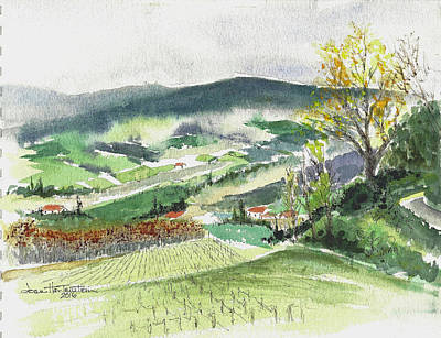Painting - View From The Villa, Tuscany by Joan Hartenstein