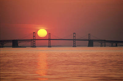 Bay Bridge Photograph - View From The Water Of The Chesapeake by Kenneth Garrett