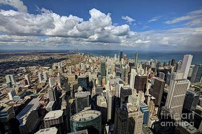 Chicago Skyline Photograph - View From The Willis Tower Chicago by Wayne Moran