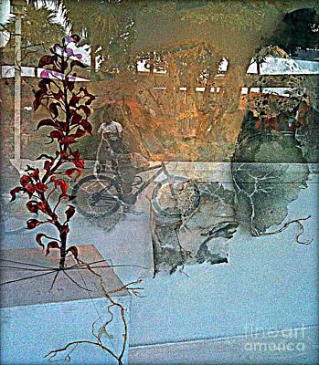 Mixed Media - View From The Window by Fania Simon