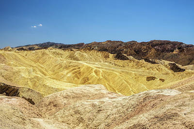 View From The Zabriskie Point  In Death Valley National Park Art Print