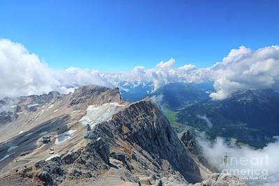 Photograph - View From The Zugspitze by Jutta Maria Pusl