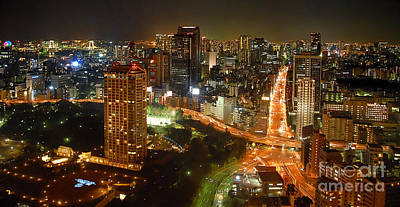 Nightcap Photograph - View From Tokyo Tower by Maggie Magee Molino