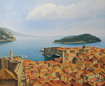 Croatia Painting - View From Top Of The World by Kiril Stanchev