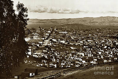Photograph - View From Twin Peaks Looking East Down Market Street, San Francico 1902 by California Views Mr Pat Hathaway Archives