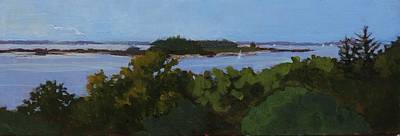 Painting - View From Two Lights State Park by Bill Tomsa