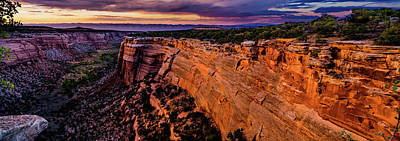 Photograph - View From Upper Ute Canyon, Colorado National Monument by TL Mair