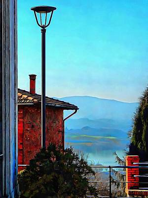 Photograph - View From Vaiano Over Lago Di Chiusi by Dorothy Berry-Lound