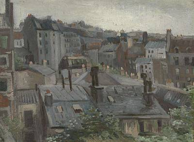 Painting - View From Vincent S Studio Paris, June 1886 Vincent Van Gogh 1853  1890 by Artistic Panda