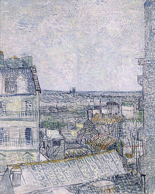 Distant Painting - View From Vincent's Room In The Rue Lepic by Vincent van Gogh