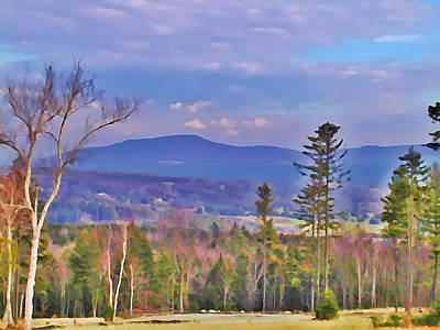Hill Country Digital Art - View From Von Trapps Lodge 1 by Bill Cannon