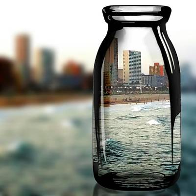 Digital Art - View In A Bottle by Vijay Sharon Govender