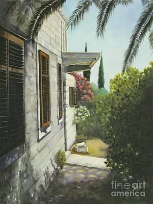 View In A Croatian Garden Art Print
