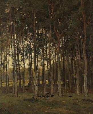 View In The Woods, Theophile De Bock, C. 1870 - C. 1904 Art Print