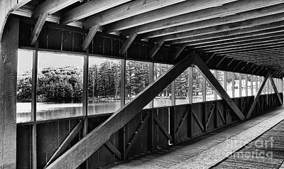 View Inside Covered Bride Black And White Art Print by Jeanne OConnor