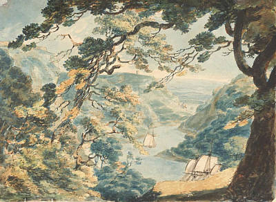 Folly Painting - View Looking Up The Avon From Cook Folly by Joseph Mallord
