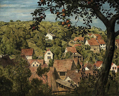 Painting - View Mammolshaim In The Taunus by Treasury Classics Art