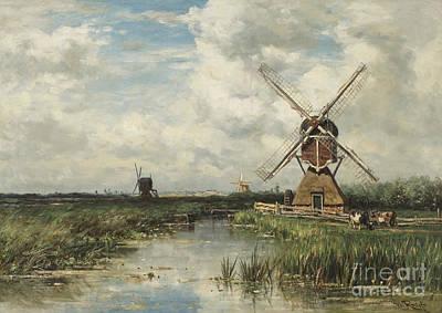 Bog Wall Art - Painting - View Near Leiden by Willem Roelofs